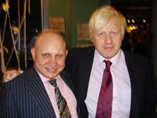 Andrew Charalambous with Mayor of London, Boris Johnson