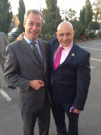 with Nigel Farage