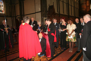 invested with the honour of Knight Commander